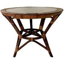 viyet designer furniture tables vintage woven rattan and