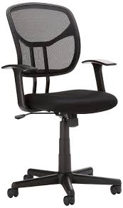 Office Chairs Amazon Com Amazonbasics Mid Back Mesh Chair Kitchen U0026 Dining