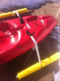 diy outrigger made from pvc pipe and pool noodles kayaking