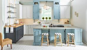 are white or kitchen cabinets more popular blue kitchen cabinets blue kitchen cabinet ideas
