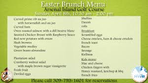 Easter Brunch Buffet by Easter Brunch Buffet Arsenal Island Golf Course