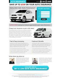 low rate auto insurance clean and minimal squeeze page design