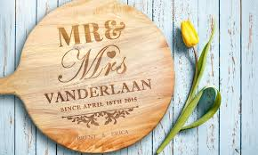 personalised cutting boards personalised acacia chopping board groupon