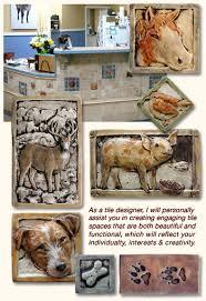 decorative ceramic relief animal art tile for kitchen bathroom