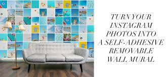 Fabric Wall Murals by Custom Printed Removable Wall Murals Turn Your Instagram Photos