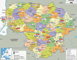 Baltic States Map Retail Maps From Cis And Baltic