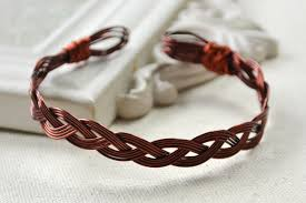 weave wire bracelet images Vintage bangle designs on how to make a woven copper bracelet with jpg