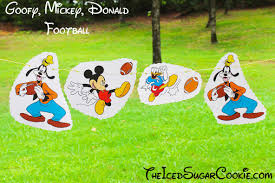 Mickey Mouse Flag Diy Goofy Donald Duck Mickey Mouse Playing Football Birthday Party
