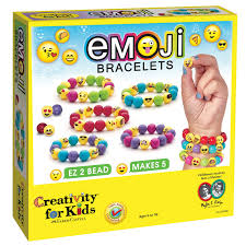amazon com creativity for kids emoji bead bracelet craft kit