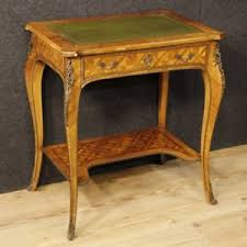 bureau style louis xv writing desk table inlaid wood antique style louis xv