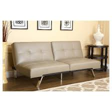 mackenzie leather convertible sofa taupe abbyson living target