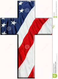 Flag With Cross And Stripes American Cross Stock Image Image Of Christian Religion 9253599