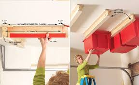 Garage Ceiling Storage Systems overhead storage system on the garage ceiling
