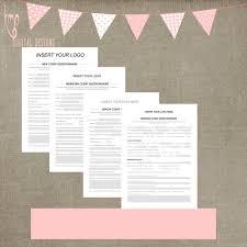 questionnaire mariage nouveau client modèle questionnaire client pour les