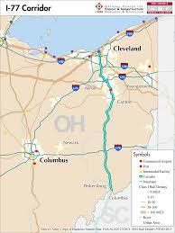 Canton Ohio Map by I 77 U2014 Mid America Freight Coalition