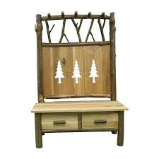 furniture entryway bench with storage drawer and twigs coat