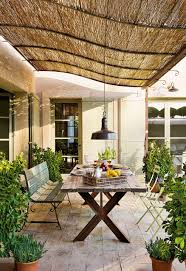 Patio Cover Lights by A Cover Forging Rattan Cane Provides Shade Antic Bicoca Lamp