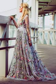color wedding dresses flower wedding dress in gray color wedding dress with