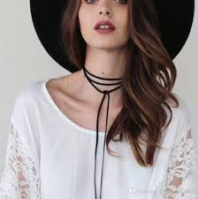 hair style with color yarn wholesale bohemia style black color yarn necklace freestyle for