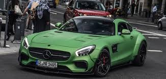 green mercedes benz dub magazine prior design mercedes benz amg gt s