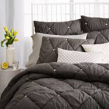 The Range Duvet Covers Natalie Embroidered Quilt Twin Stone White For The Home