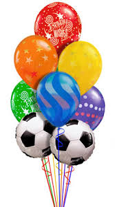 balloon delivery spokane soccer birthday balloon bouquet 9 balloons delivered by