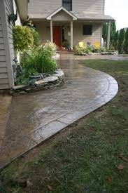 Color Concrete Patio by Ryan Job Seamless Stamped Concrete Patio And Sidewalk With