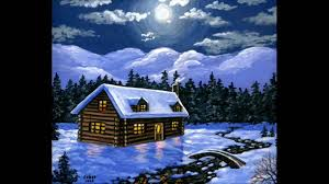 Paint The House Acrylic Paint On Canvas Art Painting The House And Snow Youtube