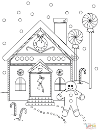 gingerbread man house coloring free printable