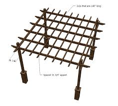 Wood Pergola Plans by Ana White Weatherly Pergola Diy Projects