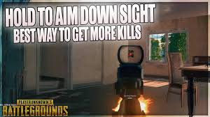 pubg hold to aim pubg how to hold to aim down sights guide tutorial youtube