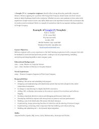 career objective for resume computer engineering cv educational background cv resume sample