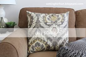 Ballard Designs Bedding Diy Pillow Cover 5 Minutes To Make Setting For Four