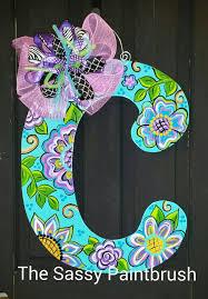 Door Monogram Decoration Best 25 Letter Door Hangers Ideas On Pinterest Monogram Door