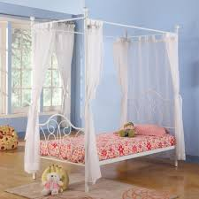 bedroom plush purple and white canopy bed with curtain for teen