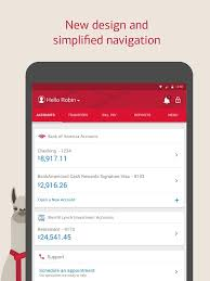 bank of america app for android tablets bank of america s android app gets redesigned androidheadlines