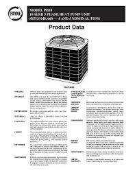 ph10 payne product data for ph10 series 10 seer 3 phase heat pump