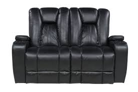 the vega black living room collection mor furniture for less vega black power loveseat