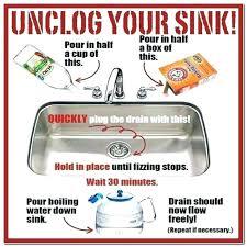 Unstop Kitchen Sink How To Unclog A Kitchen Sink Babca Club