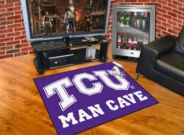 Lsu Area Rugs Horned Frogs Man Cave All Star Mat 34