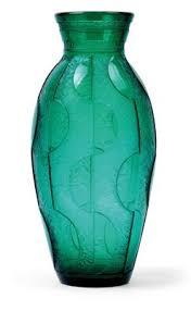 Deco Vase Jugendstil And 20th Century Arts And Crafts An Etched Art Deco