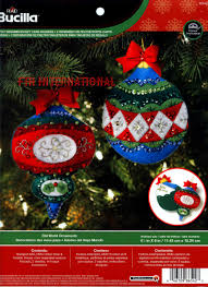 world ornament gift card holders 2 pce bucilla felt