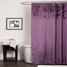 bathroom awesome ruffle shower curtain for decoration bathroom