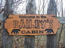 cabin sign last name personalized wooden carved rustic hunting