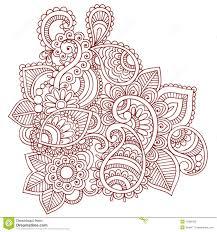 henna mehndi paisley doodle design stock vector image 13380122