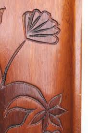 carved wood tray made in haiti tree of retro flowering tree