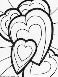 coloring book heart coloring