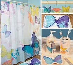 Bathroom Rug And Shower Curtain Sets Buy Colorful Butterfly Complete 17 Pc Bathroom Set With Mat