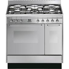Smeg CC92MX9 Dual Fuel Range Cooker in Stainless Steel with Hood