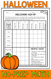 Halloween Mad Libs Esl by Halloween Math Packet No Prep Halloween Math Worksheets Prime